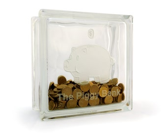 Glass Piggy bank money box