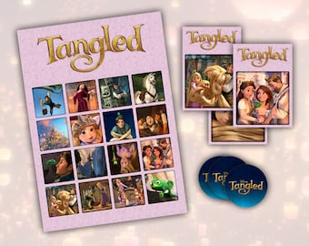 Tangled Printable Birthday Party Bingo Game