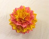 Yellow and Pink Paper Centerpiece