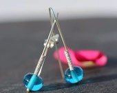 Sparklers - Glass and Silver Earrings