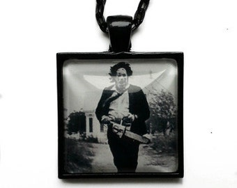 Black and White Leatherface Texas Chainsaw Massacre Necklace