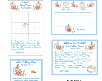 Beatrix Peter Rabbit Baby Shower Game Package #1