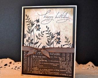 Handmade Birthday Card, Feminine Birthday Greeting, Stampin' Up Handmade Card