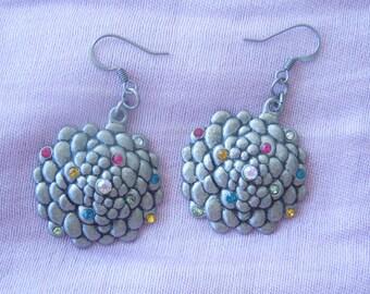 Pewter Mum Earrings