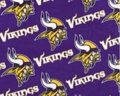 Minnesota Vikings Blanket - Fleece No Sew / Tie Quilt -  Minky Material, Fabric - Great Baby Shower Gift - Adult Sizes too