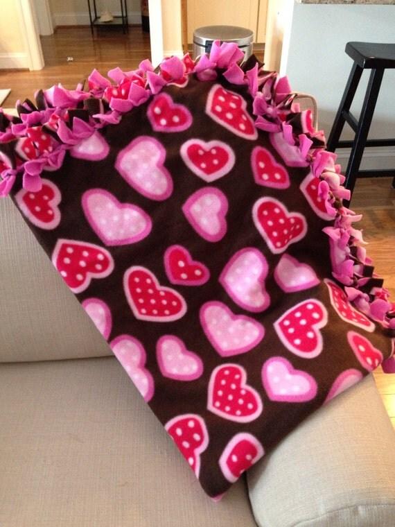 35 Off Valentine S Day Fleece Tie Blanket By