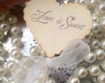 Cupcake toppers love is sweet picks