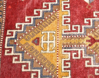 SALE! -- Vintage Caucasian Rug -- 8 ft. by 4 ft. 9 in.   Sale 329 --