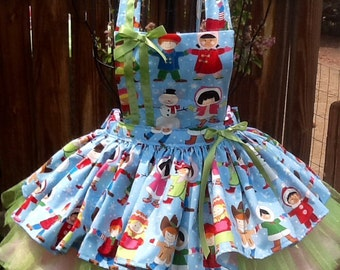 My Christmas kids apron size 5/6