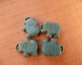 Beads howlite elephants