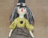 Primitive Folky Annie Witch Doll, HHCOFG