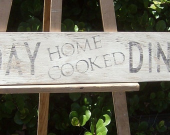 Distressed Home Cooked Sunday Dinner Sign