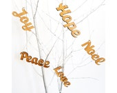 Christmas Word Art, Christmas Decoration, Christmas Tree Decoration by The Owl & Otter