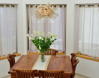 Ceiling lamp chandelier with Transparent clear bubbles for dinning table or living room.