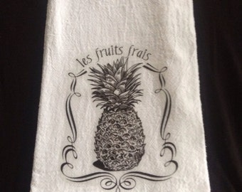 French Pineapple Kitchen Towel