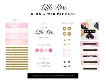 Little Rose- Blog + Web + Logo Branding Package
