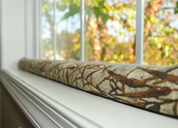 Rustic draught excluder sleeve door draft stopper by for Door wind stopper