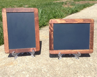 SMALL Stained Chalkboard Signs SET OF 2 with Easels for Party or Wedding