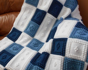 PEACEFUL pattern for crocheted blanket.