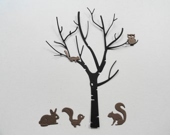 Die Cut Birch Trees and Cute Critters  8 Sets