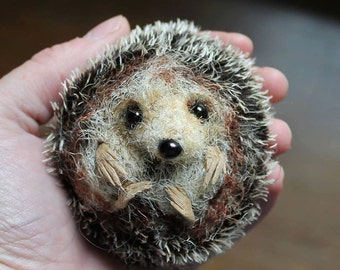 Hedgehog - Pdf sewing pattern/ needle felting tutorial
