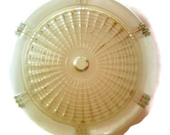 Vintage Ceiling Light Shade, Frosted Glass, Clear Glass, Deco Style, Home Decor, Vintage Home, Lighting