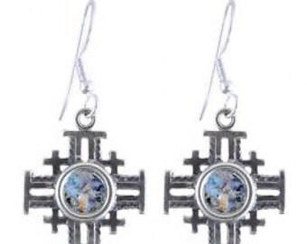 Special Dangle Earrings, 925 Sterling Silver Earrings, Ancient Roman Glass Earrings, Roman Glass Jewelry, OOAK