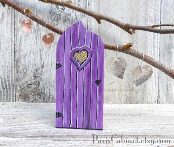 Items similar to radiant orchid fairy door tooth fairy for Purple fairy door