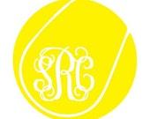 "5"" Tennis Ball  Monogram Car Sticker Vinyl Decal"