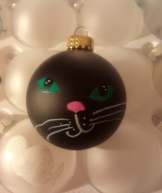 Christmas Tree Made Of Black Cats: Cat Ornament Black Cat Ornament Hand-painted Cat By