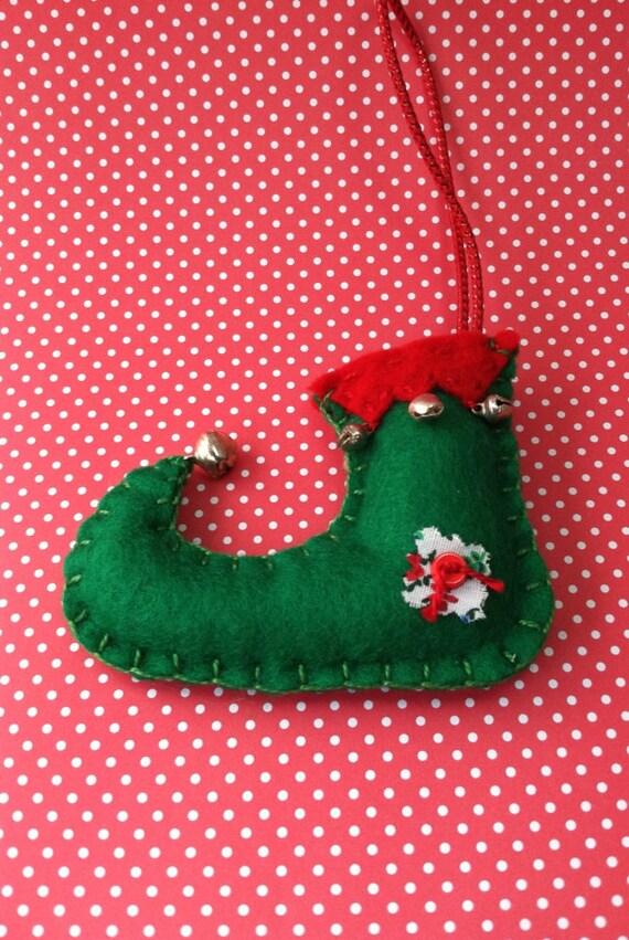Elf Shoe Ornament