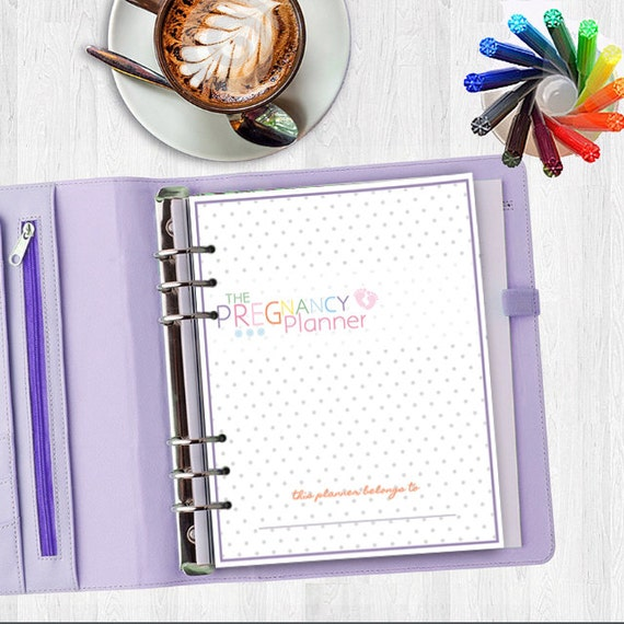 ultimate printable pregnancy planner book by theprintablecafe