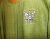 166 SALE PRICE: Israeli Air Force Camo Green 100% Linen T-Tunic with Matching Belt and Trim