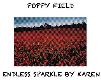 Poppy Field Peyote Tapestry Pattern