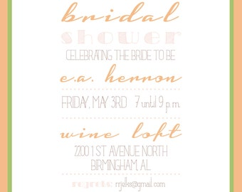 Modern Wedding Shower Invitation