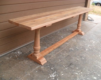 Sofa table made from reclaimed wood and custom made in the USA