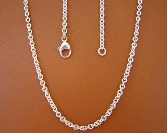 "3.2mm, 18"" Cable Chain, Sterling Silver"