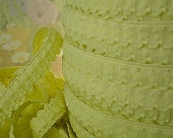 5yds Elastic trim 1/2 inch Light Yellow Skinny Elastic with Scallops Single sided Edging Headbands Sewing lingerie Hair Elastic by the yard