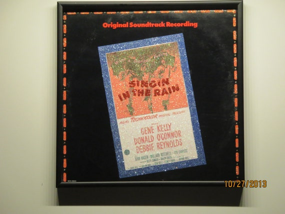 Glittered Record Album - Singin' In The Rain - Soundtrack