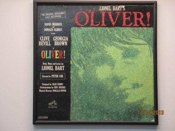 Glittered Record Album - Oliver! - Soundtrack