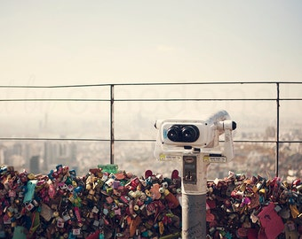 The View: Seoul - Photographic Print - South Korea,  wanderlust, travel, Art, Decor, tower, namsan, love locks, kpop, Photography, asia,