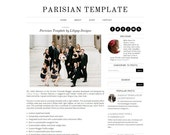 Blogger Template Premade Blog Design - Parisian - Black - White - Simple
