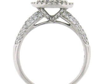 Round Brilliant Diamond Engagement Ring 14k White Gold (1.35ct)