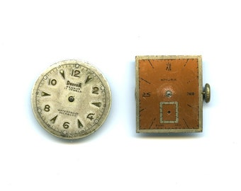Two Vintage Swiss Watch Movements