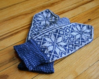 Midnight Clear Mittens - MADE TO ORDER