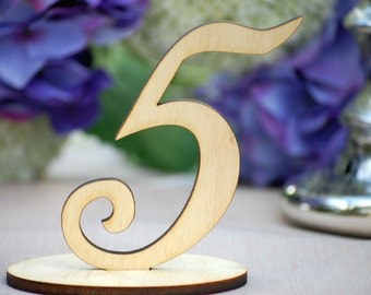 DIY Wedding Table Numbers, Freestanding Wood Table Number, Rustic Wedding, Barn Wedding, Spring Wedding, Fall Wedding