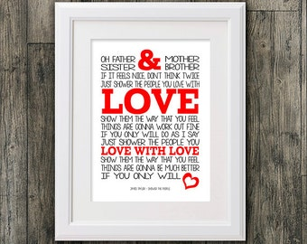 James Taylor Shower the People 8x10 picture mount & Print Typography song music lyrics for self framing