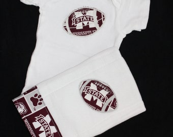 Mississippi State Bodysuit and Burp Cloth set
