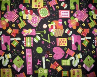 Sewing Fabric Print  x 1 ( Half yd )