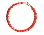 Tiny Pink Coral and Gold/Silver Gemstone Bracelet //Coral bracelet //Gold bracelet //handmade jewellery //gifts for women //bridesmaid gifts